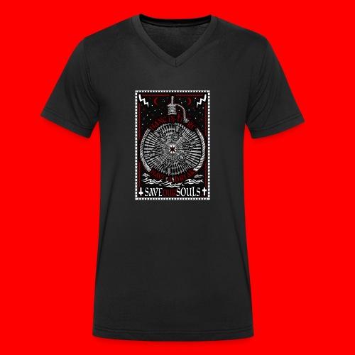 SaveOurSouls - Men's Organic V-Neck T-Shirt by Stanley & Stella