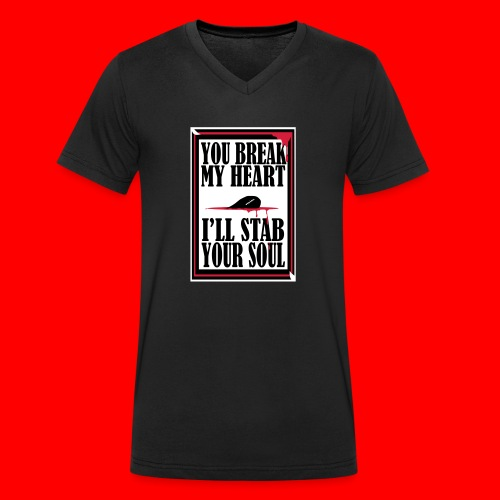 HeartBreaker - Men's Organic V-Neck T-Shirt by Stanley & Stella