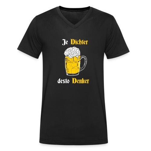 Dichter & Denker Bierkrug - Bierphilosoph - Männer Bio-T-Shirt mit V-Ausschnitt von Stanley & Stella