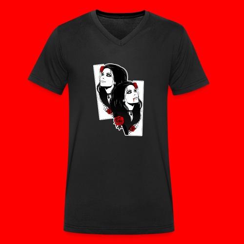 vampires - Men's Organic V-Neck T-Shirt by Stanley & Stella