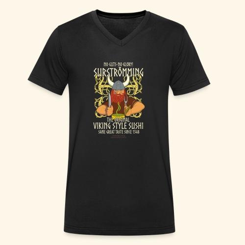 Surströmming T Shirt Viking Sushi - Männer Bio-T-Shirt mit V-Ausschnitt von Stanley & Stella