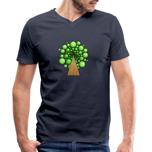 Kugel-Baum, 3d, hellgrün - Männer Bio-T-Shirt mit V-Ausschnitt von Stanley & Stella