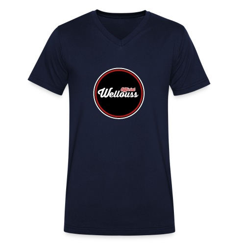 Wellouss Fan T-shirt | Rood - Mannen bio T-shirt met V-hals van Stanley & Stella