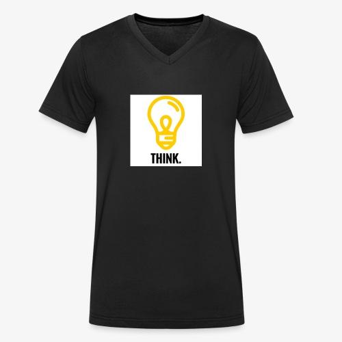 THINK - T-shirt ecologica da uomo con scollo a V di Stanley & Stella
