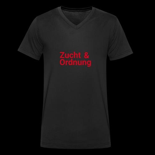 Zucht und Ordnung - Männer Bio-T-Shirt mit V-Ausschnitt von Stanley & Stella