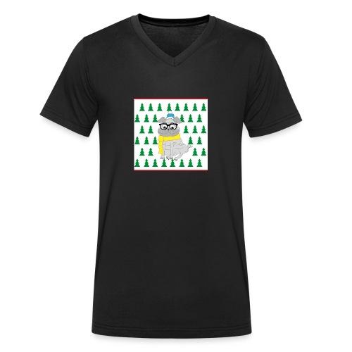 Hipster Mops - Männer Bio-T-Shirt mit V-Ausschnitt von Stanley & Stella