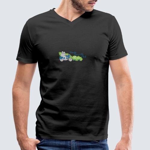 HDC jubileum logo - Mannen bio T-shirt met V-hals van Stanley & Stella