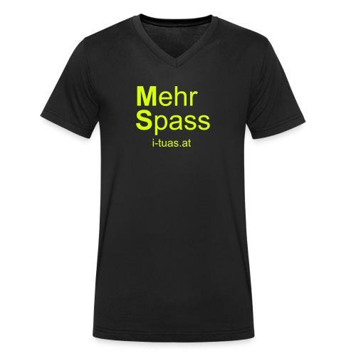 MehrSpass - Männer Bio-T-Shirt mit V-Ausschnitt von Stanley & Stella