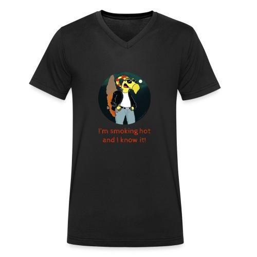 I'm smoking hot and I know it! - Ekologisk T-shirt med V-ringning herr från Stanley & Stella