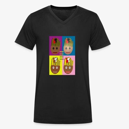 Fryhair Poparted - Männer Bio-T-Shirt mit V-Ausschnitt von Stanley & Stella