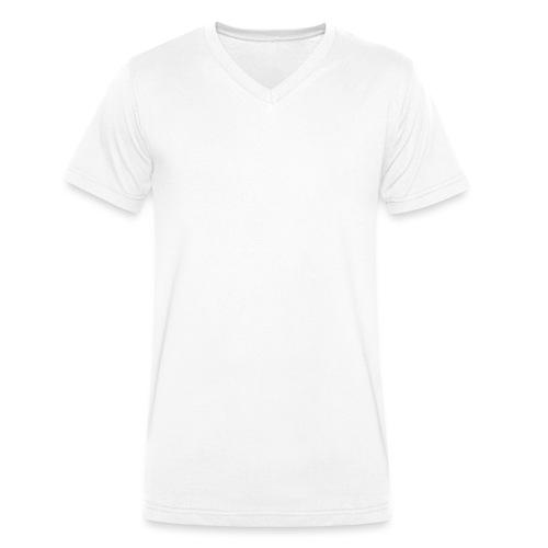 Samurai / White - Abstract Tatoo - Men's Organic V-Neck T-Shirt by Stanley & Stella