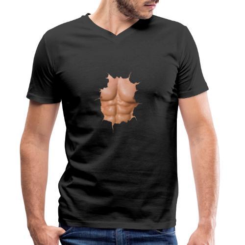 Torso musculoso - Camiseta ecológica hombre con cuello de pico de Stanley & Stella