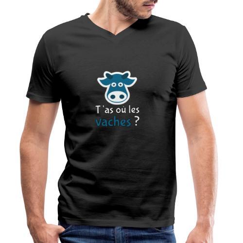 T'as où les vaches ? - Männer Bio-T-Shirt mit V-Ausschnitt von Stanley & Stella