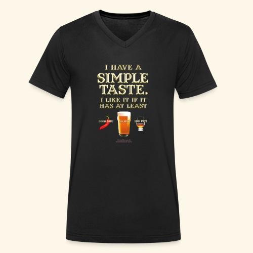 Whisky, Chili, Bier - Männer Bio-T-Shirt mit V-Ausschnitt von Stanley & Stella