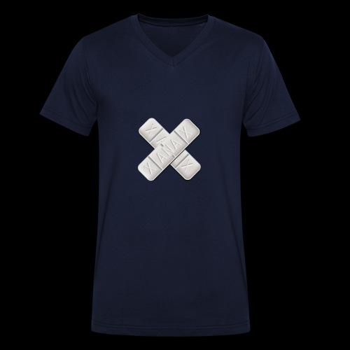 Xanax X Logo - Männer Bio-T-Shirt mit V-Ausschnitt von Stanley & Stella