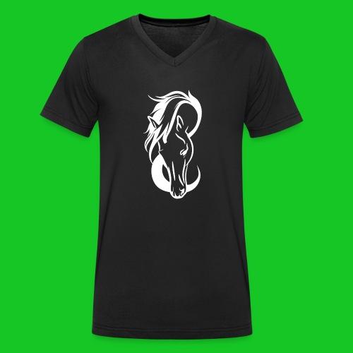 Paardenhoofd line - Mannen bio T-shirt met V-hals van Stanley & Stella