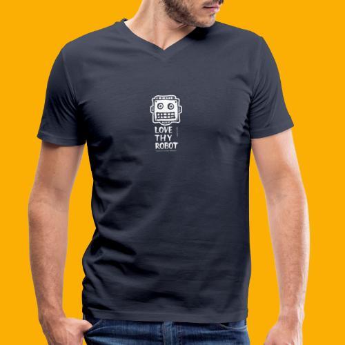 Dat Robot: Support this cute face - Mannen bio T-shirt met V-hals van Stanley & Stella