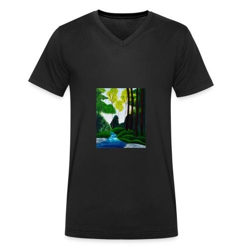 Wilder Bach - Männer Bio-T-Shirt mit V-Ausschnitt von Stanley & Stella