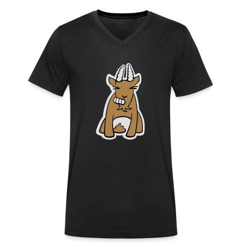 Scheissbock - Männer Bio-T-Shirt mit V-Ausschnitt von Stanley & Stella
