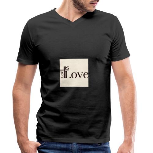 Good love - Men's Organic V-Neck T-Shirt by Stanley & Stella