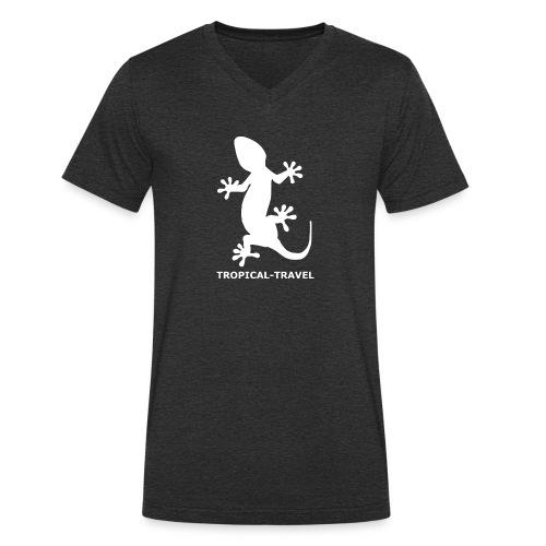 tropical-travel - Männer Bio-T-Shirt mit V-Ausschnitt von Stanley & Stella