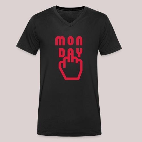 26-30 Lazy Monday - Männer Bio-T-Shirt mit V-Ausschnitt von Stanley & Stella