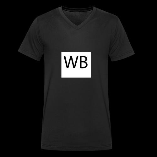 WB Logo - Männer Bio-T-Shirt mit V-Ausschnitt von Stanley & Stella