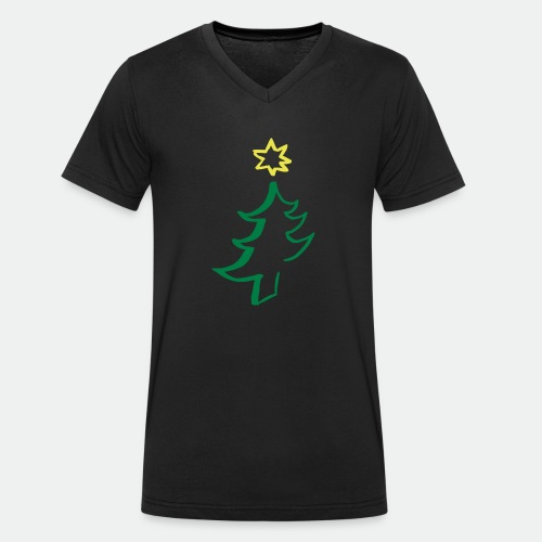 diagonal christmas tree - Men's Organic V-Neck T-Shirt by Stanley & Stella