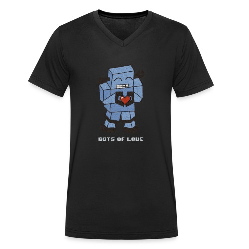 Bots of love grunge - Men's Organic V-Neck T-Shirt by Stanley & Stella