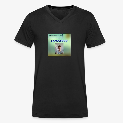 Leman974 logo - T-shirt bio col V Stanley & Stella Homme