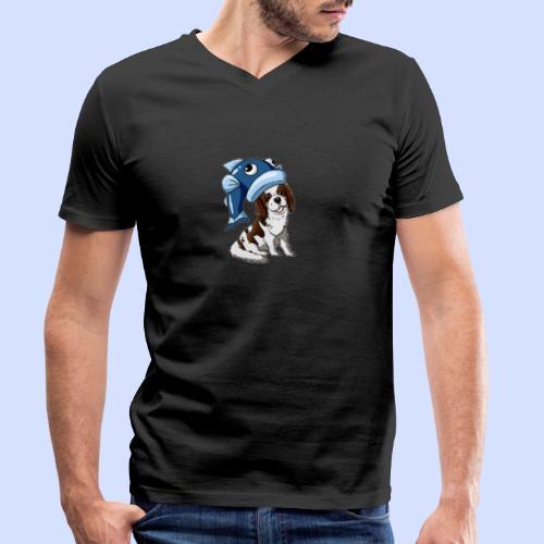 COD8MYdog logo (oscar) - Men's Organic V-Neck T-Shirt by Stanley & Stella