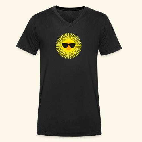 Sol de Canarias - Camiseta ecológica hombre con cuello de pico de Stanley & Stella