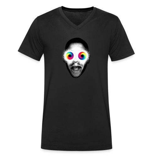 Psykedeliska - Ekologisk T-shirt med V-ringning herr från Stanley & Stella