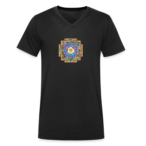 buddhist mandala - Men's Organic V-Neck T-Shirt by Stanley & Stella