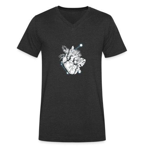 Cuore - Camiseta ecológica hombre con cuello de pico de Stanley & Stella