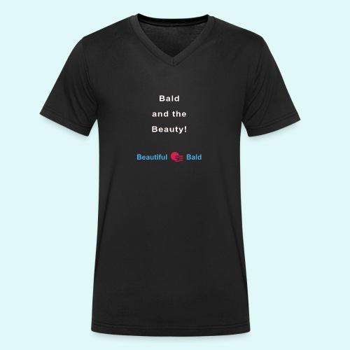 Bald and the Beauty w - Mannen bio T-shirt met V-hals van Stanley & Stella