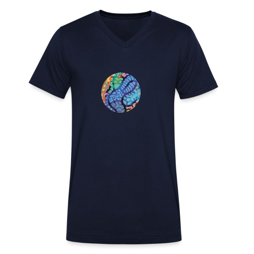 concentric - Men's Organic V-Neck T-Shirt by Stanley & Stella