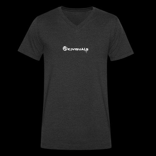 - EJVisuals Logo - Mannen bio T-shirt met V-hals van Stanley & Stella
