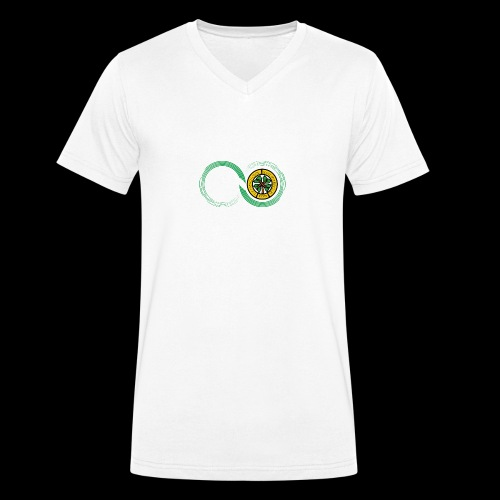 Harp and French CSC logo - T-shirt bio col V Stanley & Stella Homme
