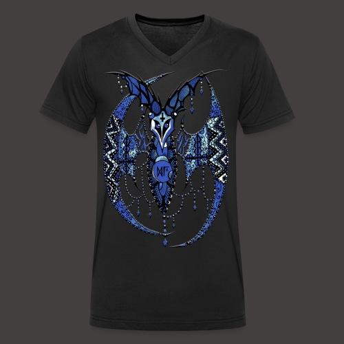 Chauve Souris Dentelle Bleue - T-shirt bio col V Stanley & Stella Homme