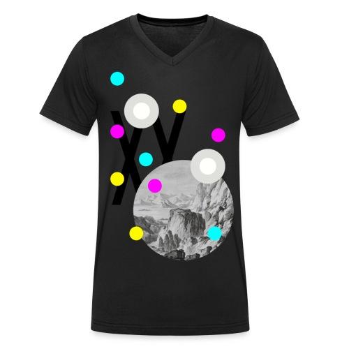 mountain motiv 2017-3 Kop - Männer Bio-T-Shirt mit V-Ausschnitt von Stanley & Stella