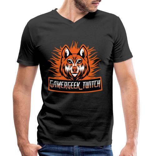 GamerGeek Logo XXXL - Männer Bio-T-Shirt mit V-Ausschnitt von Stanley & Stella