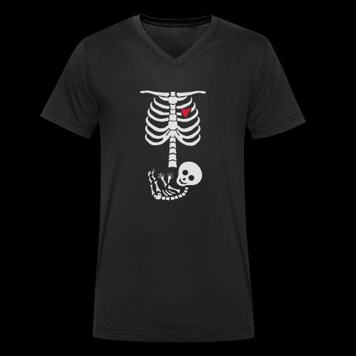Baby Skelett Schwangerschafts Shirt - Männer Bio-T-Shirt mit V-Ausschnitt von Stanley & Stella