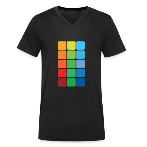 Square color - Men's Organic V-Neck T-Shirt by Stanley & Stella