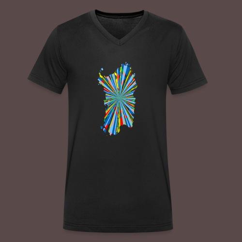 Sardegna Esplosione di Colori - T-shirt ecologica da uomo con scollo a V di Stanley & Stella