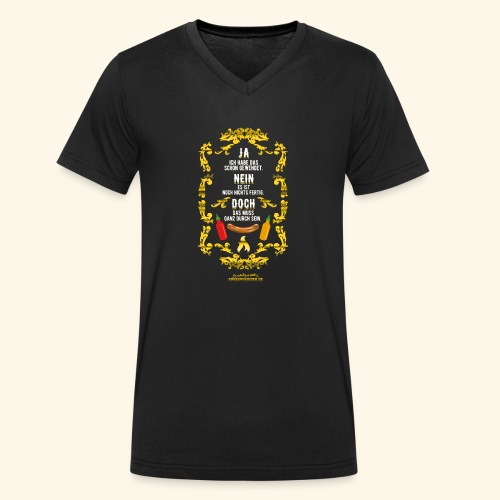 coole Geschenkidee: lustiges Grillsprüche-Shirt - Männer Bio-T-Shirt mit V-Ausschnitt von Stanley & Stella