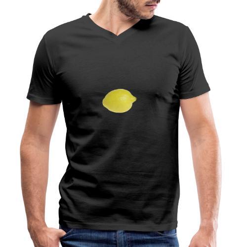 Zitrone - Männer Bio-T-Shirt mit V-Ausschnitt von Stanley & Stella