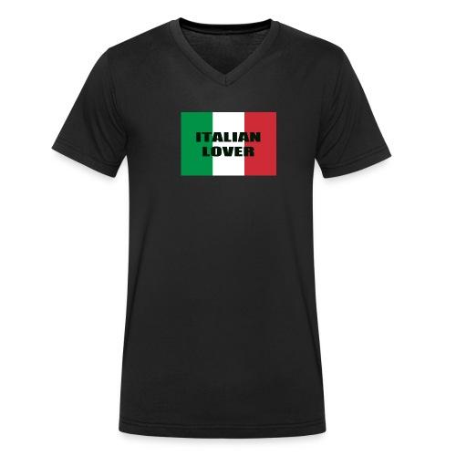 ITALIAN LOVER - T-shirt ecologica da uomo con scollo a V di Stanley & Stella