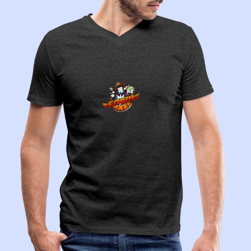 FAWK Chronicles Logo - Men's Organic V-Neck T-Shirt by Stanley & Stella