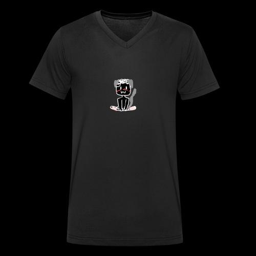Neko-Mxnuuel - Männer Bio-T-Shirt mit V-Ausschnitt von Stanley & Stella